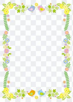 春天框架,背景,A4垂直,用腳