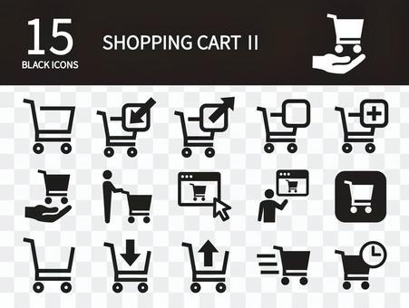 Shopping cart icon set