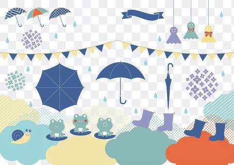 下雨天插圖材料集