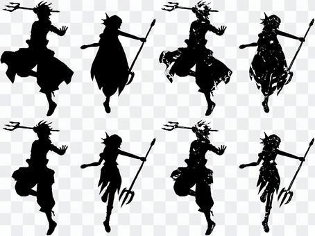 水神戰士·剪影集【站立圖】