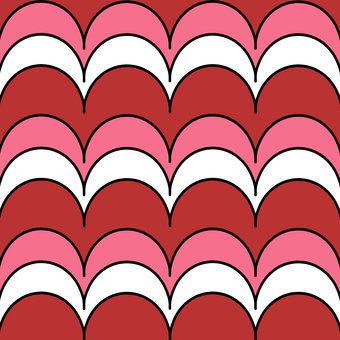 Red red wavy pattern