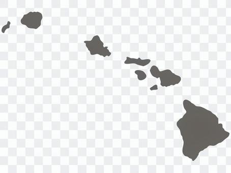 ハワイ_シルエット