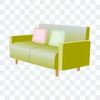 二人沙發(黃色)