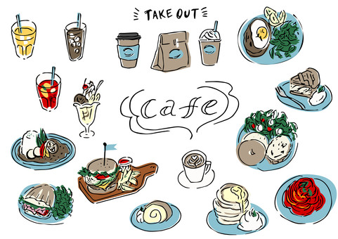 Cafe / coffee shop material collection