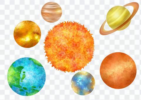 行星和星星