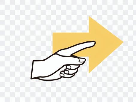 手指指向圖標