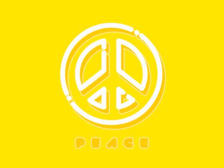 和平象徵霓虹燈式圖標和平