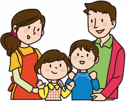 4個年輕的家庭