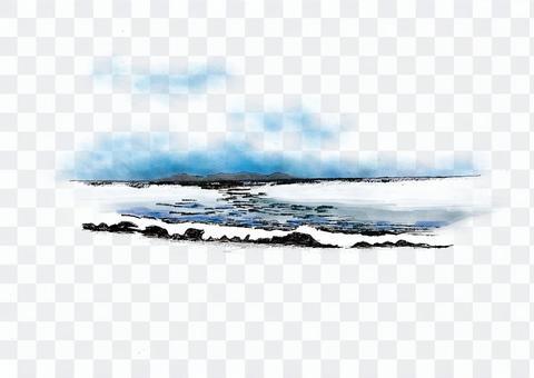 海灘風光色01