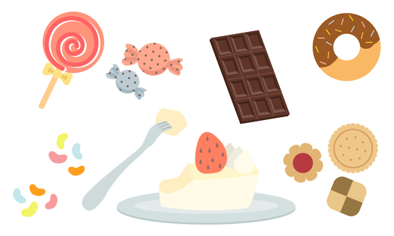 Various sweets set