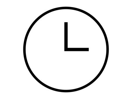 Simple clock icon: white: no scale