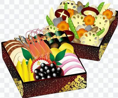 Illustration和水煮蝦箱的插圖