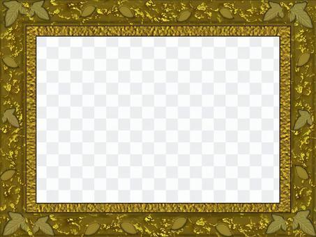 豪华的黄金框架