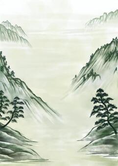 掛軸Sansui圖片插圖(顏色)