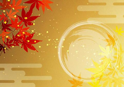 Autumn leaves _ gold leaf _ and background