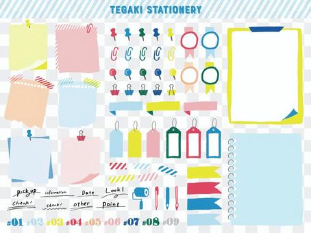 Hand drawn stationery material