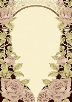 Antique style rose and arch frame