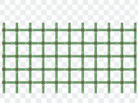 Bamboo fence bamboo lattice pattern swatch