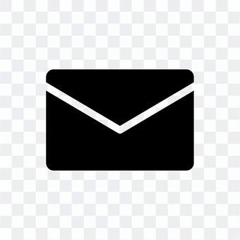 電子郵件剪影圖標