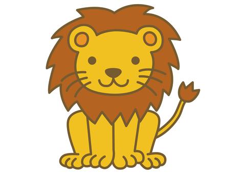 可愛的獅子圖