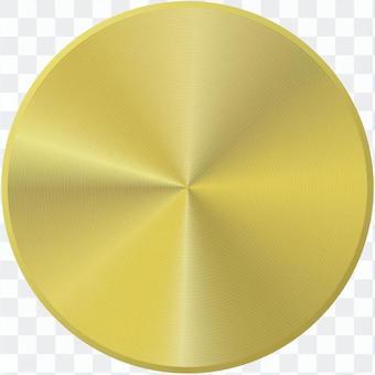 黃金金屬按鈕_薄