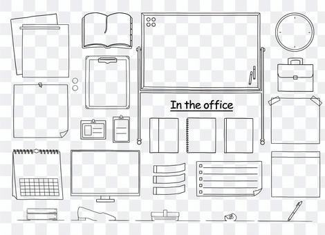 Office_memo_frame_line繪圖