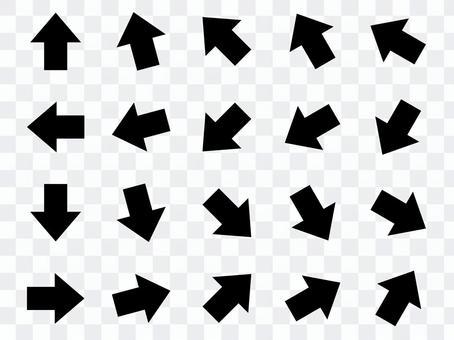 Set arrow No frame Black