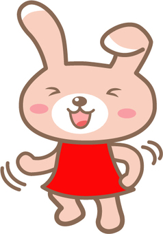 猛烈地跳舞兔子