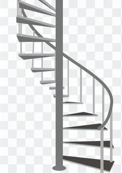 らせん階段、吹き抜け