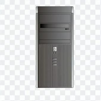 Tower type personal computer (black)