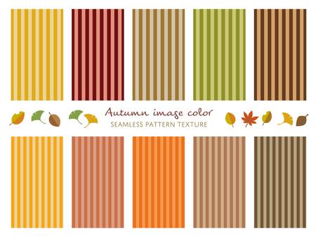 Autumn color stripe pattern set 01