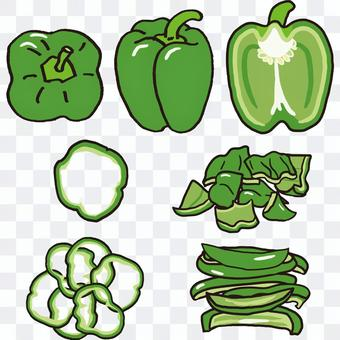 如何切辣椒粉綠色
