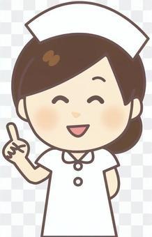 護士女(白·尖)