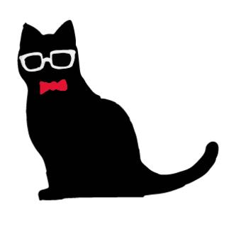 黑貓剪影眼鏡