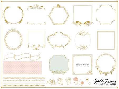 Gold frame material