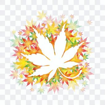 秋季的葉子框架
