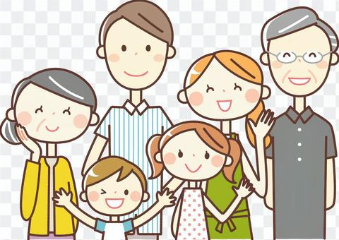 Simple person _ 6 people Family 02
