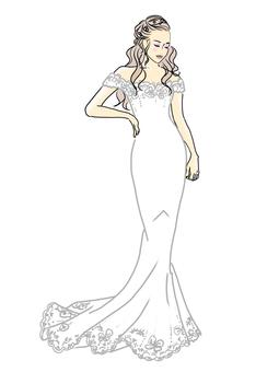 婚紗,美人魚