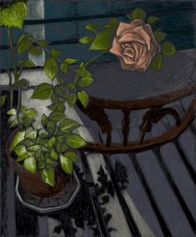 Rose at night