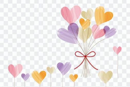 心臟花束五顏六色