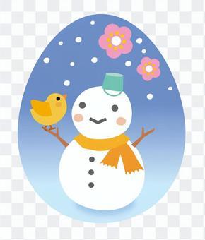 雪人和小雞