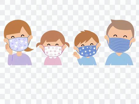 200505.マスクをした家族