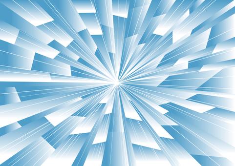 強力集中線(藍色)