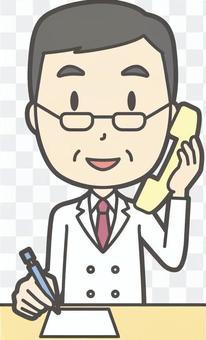 中年男性医師-309-全身