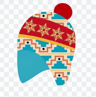 北歐圖案針織帽01
