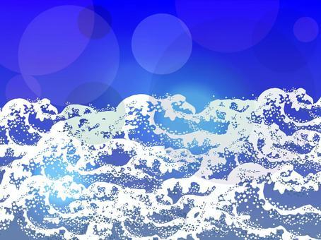 White wave pattern light background