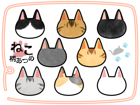 Cat pattern gathering