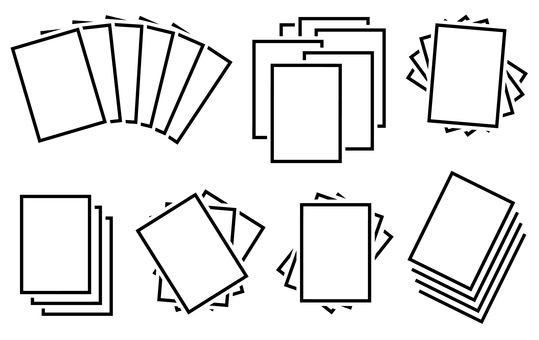 Multiple sets of plain paper cards