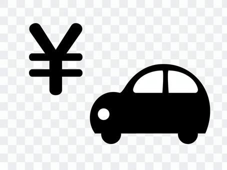 汽車和金錢的例證