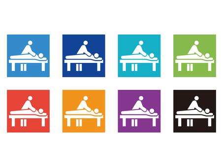 Massage icon pictogram